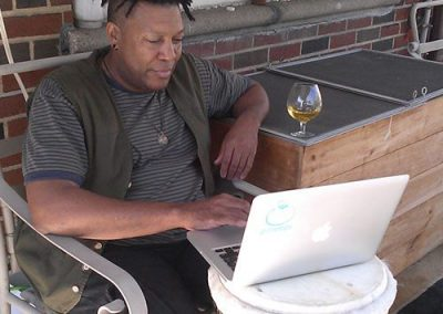 Frank, laptop recipient